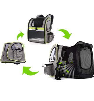 Excelente mochila/transportin Pecute para mascotas