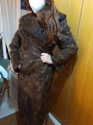 Abrigo largo lomo de visón