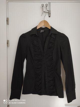 Camisa negra de vestir