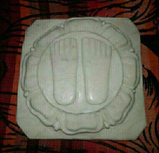 Charan Paduka mármol macizo