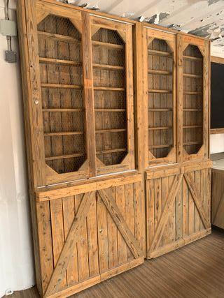 Mueble estantería madera