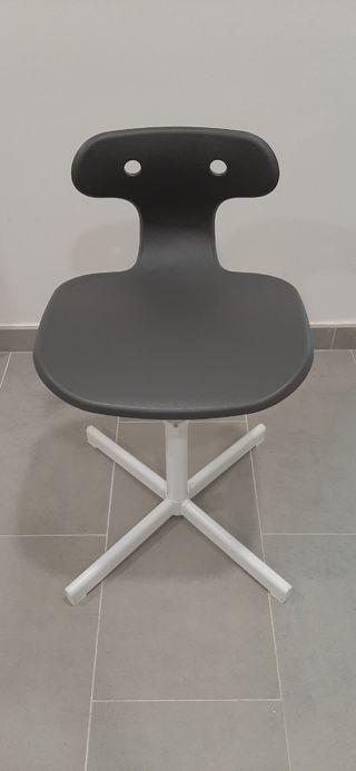 Silla oficina IKEA MOLTE, color gris