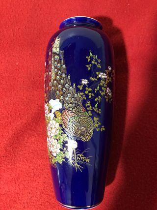 Jarrón japonés cerámica azul