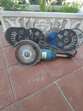 radial makita grande con disco