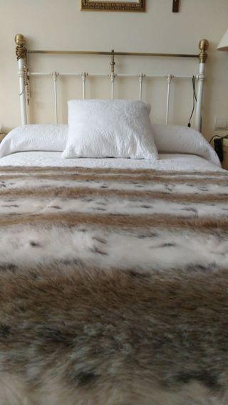 cabecero de forja blanco cama 90