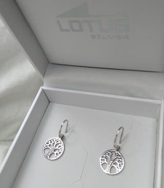 """Pendientes Lotus """"Árbol de la vida"""""""