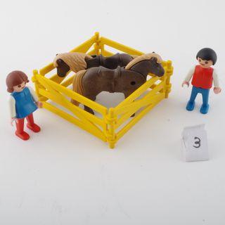 playmobil granja niños pony 3579