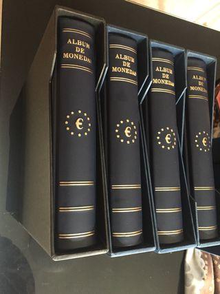 Álbumes vacíos para monedas de euro