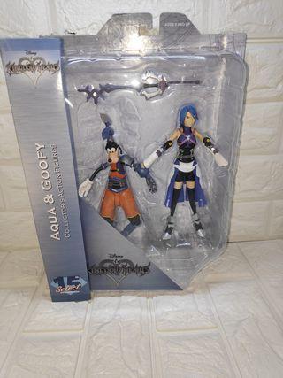 Figuras Aqua & Goofy Kingdom Hearts
