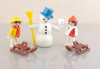 playmobil niños nieve muñeco 3393