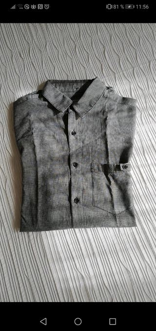 camisa gris pull and bear