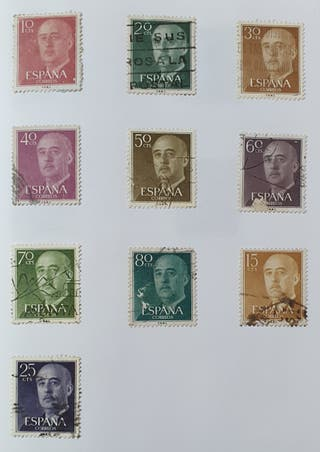 Lote 21 sellos Franco España