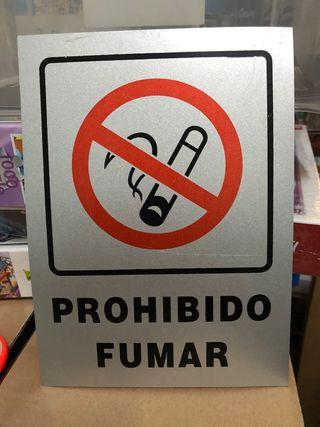 Cartel prohibido fumar