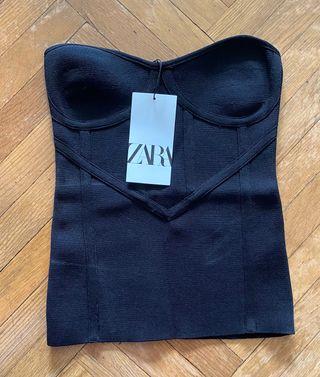 Top punto bustier de Zara nuevo