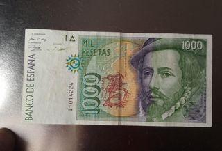 billete 1000 pesetas de 1992