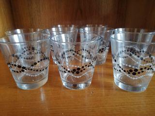 conjunto de vasos de cristal