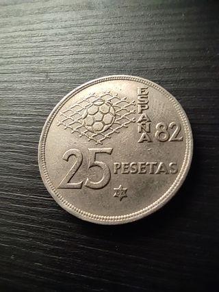 25 pesetas mundial 82