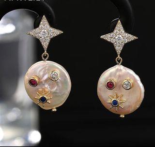 Pendientes de perla natural