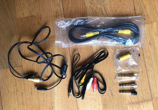 pack adaptadores y cables audio y video (x7)