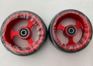 Ruedas aluminio delanteras silla de ruedas