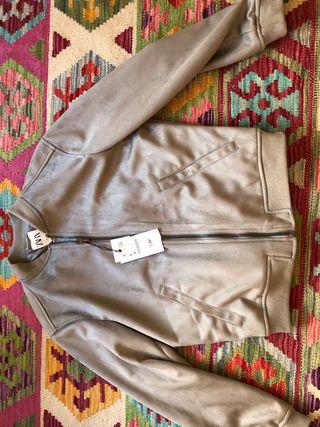 Cazadora chaqueta gris