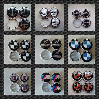Tapabujes centro de ruedas emblema logo bmw 68mm