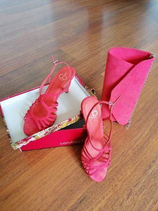 sandalias y bolso fiesta