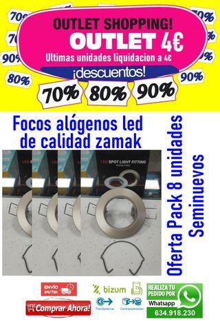 Pack 8 focos halogenos led