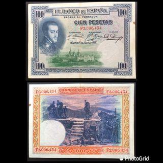 BILLETE 100 PESETAS AÑO 1925