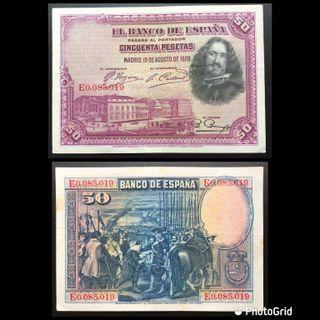 BILLETE DE 50 PESETAS AÑO 1928