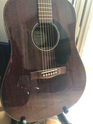 Guitarra Acústica Fender Mahogany (2020) + Funda