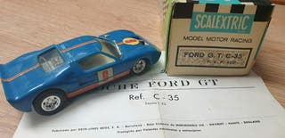 FORD GT AZUL OSCURO EXIN SCALEXTRIC SLOT CAJA