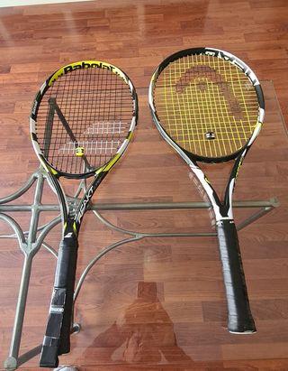 Raquetas (2) Una es marca Babolat la otra Head
