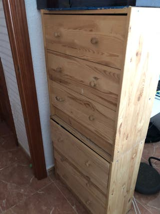 2 cajoneras ikea madera