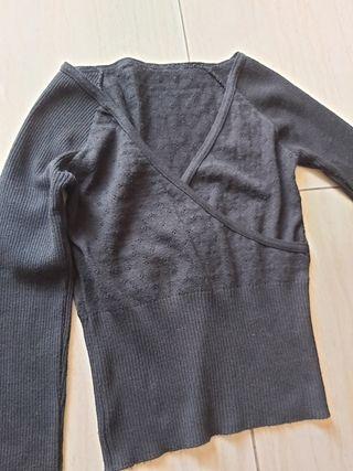 Camisa punto S M negra