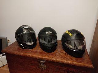 3 Cascos Moto ( HJC, Schubert y Lazer)
