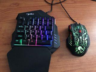 Teclado+ratón+adaptador ps4