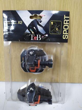 soporte para casco video camara