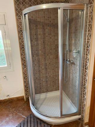 Mampara de ducha 80x80 angular