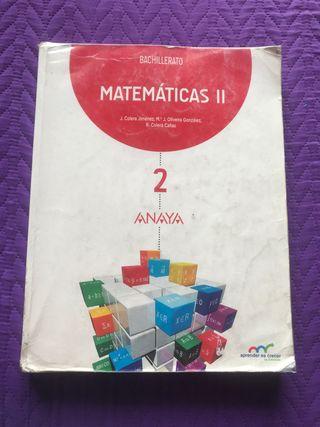 Libro Matemáticas 2Bach Ciencias Anaya