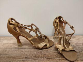 Zapatos baile tacón talla 41