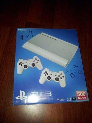 Consola PS3 Super Slim 500GB + Juegos.