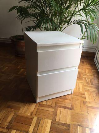 Ikea MALM Cómoda de 2 cajones, blanco