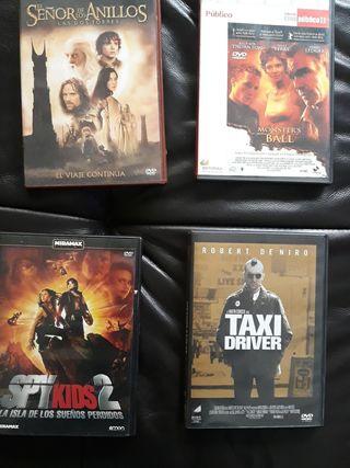 Películas DVD y BLUray.