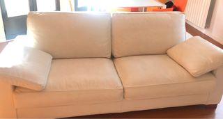 Sofá Oberón reclinable de piel blanca- Perobell