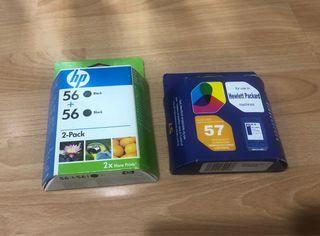 Cartuchos tinta HP 56 y 57