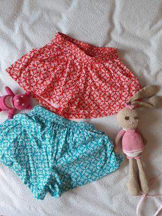 lote 2 shorts cortos 3 años