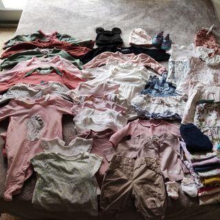 lote ropa de niña 0-3 meses primavera- verano