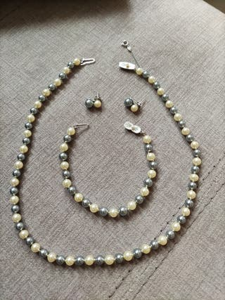 conjunto de perlas majóricas