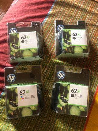 Cartuchos de tinta 62XL HP nuevos